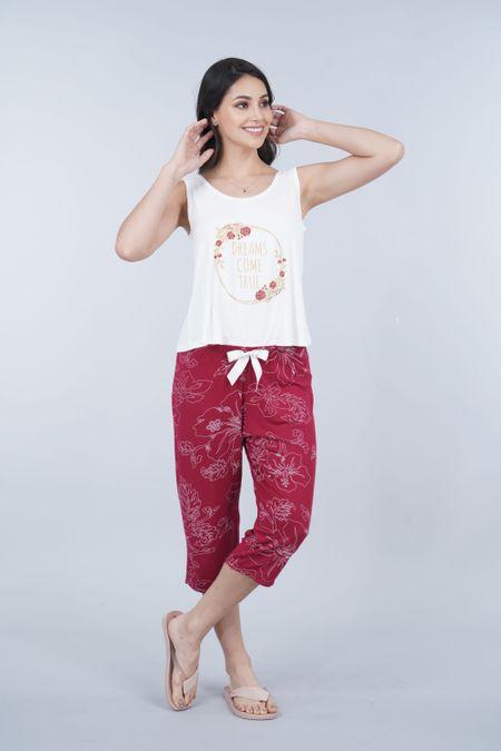 Pijama para Mujer Color Marfil Ref: 011363 - CCU - Talla: S