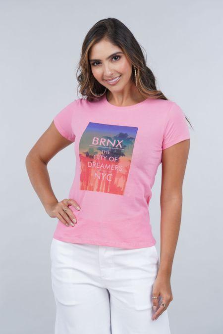 Camiseta para Mujer Color Rosado Ref: 001062 - CCU - Talla: S
