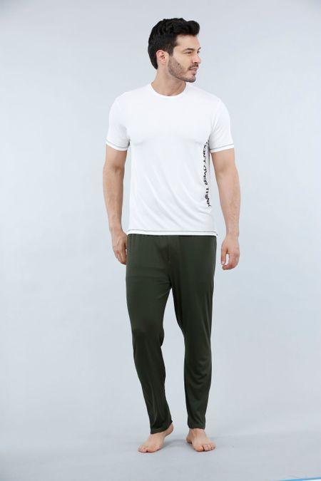 Pijama para Hombre Color Marfil Ref: 003302 - CCU - Talla: S