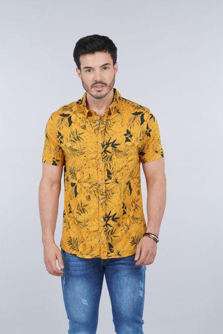 Camisa para Hombre Color Amarillo Ref: 003246 - CCU - Talla: S