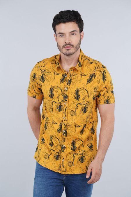 Camisa para Hombre Color Amarillo Ref: 003330 - CCU - Talla: S