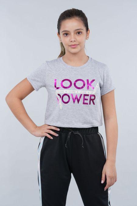 Blusa para Teen Color Gris Ref: 021193 - CCU - Talla: 10