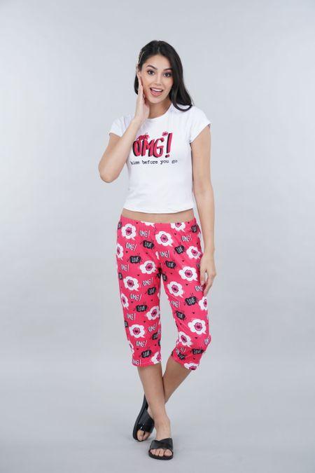 Pijama para Mujer Color Blanco Ref: 011305 - CCU - Talla: S