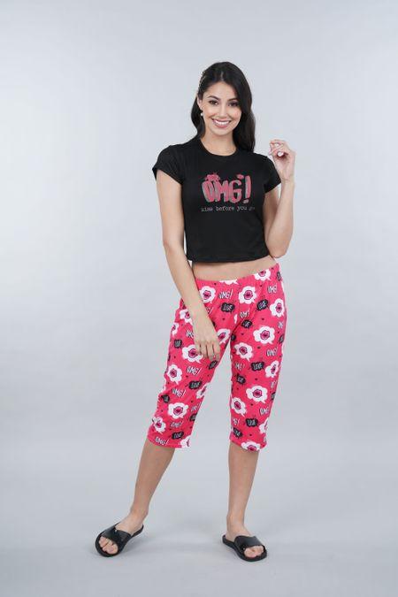Pijama para Mujer Color Negro Ref: 011305 - CCU - Talla: S