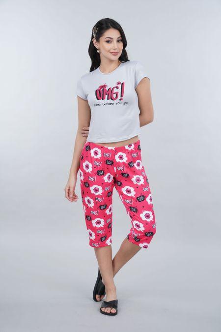 Pijama para Mujer Color Gris Ref: 011305 - CCU - Talla: S