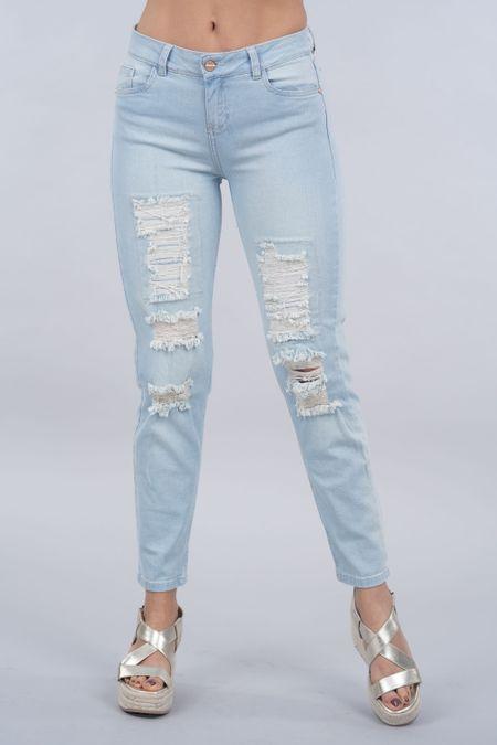 Jean para Mujer Color Azul Ref: 011928 - Possesion - Talla: 8