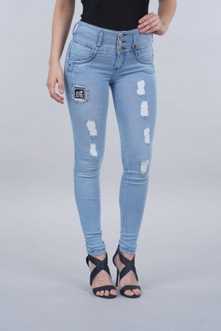 Jean para Mujer Color Azul Ref: 125511 - Possesion - Talla: 6