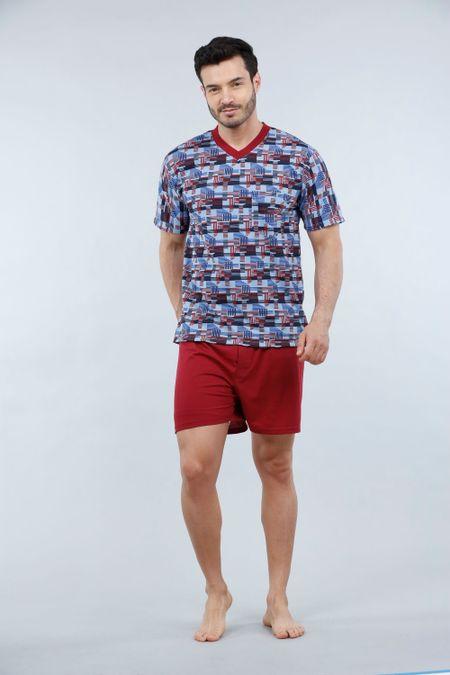 Pijama para Hombre Color Vinotinto Ref: 000038 - Kalor - Talla: S