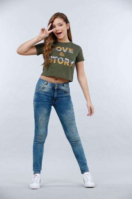 Blusa para Teen Color Verde Ref: 021197 - CCU - Talla: 10