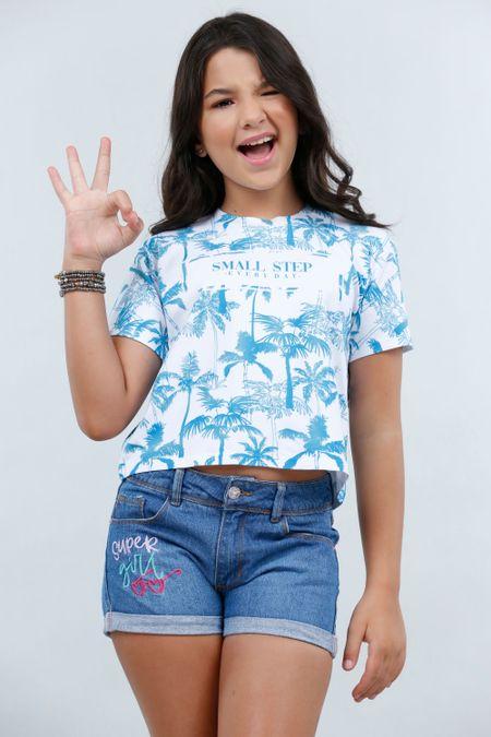 Blusa para Teen Color Azul Ref: 2120-2 - CCU - Talla: 10