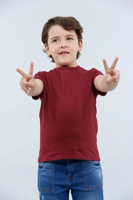Camiseta para Niño Color Vinotinto Ref: 030216 - CCU - Talla: 8