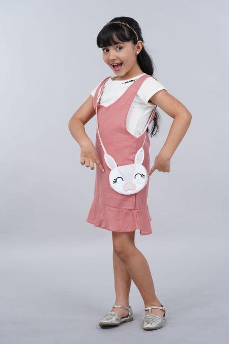 Vestido para Niña Color Terracota Ref: 27404 - Fantasy - Talla: 4