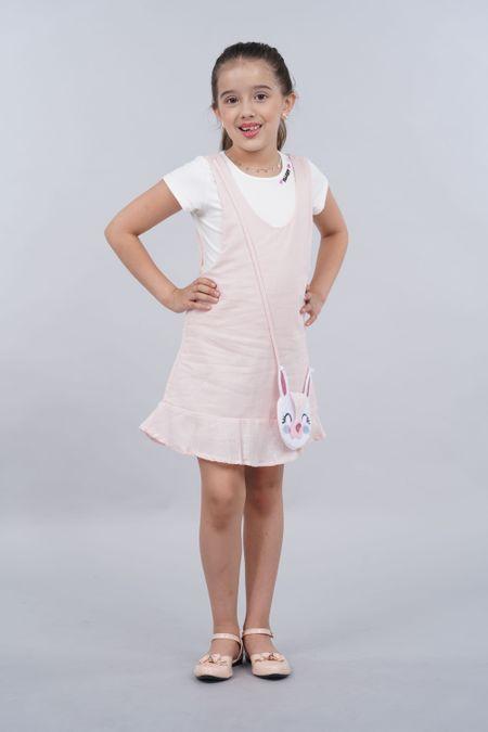 Vestido para Niña Color Rosado Ref: 27404 - Fantasy - Talla: 4