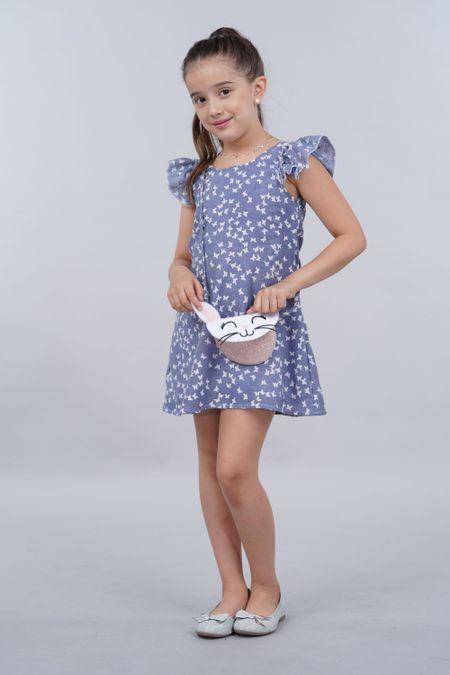 Vestido para Niña Color Azul Ref: 027782 - Fantasy - Talla: 4