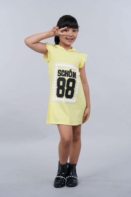 Vestido para Niña Color Amarillo Ref: 027812 - Fantasy - Talla: 4