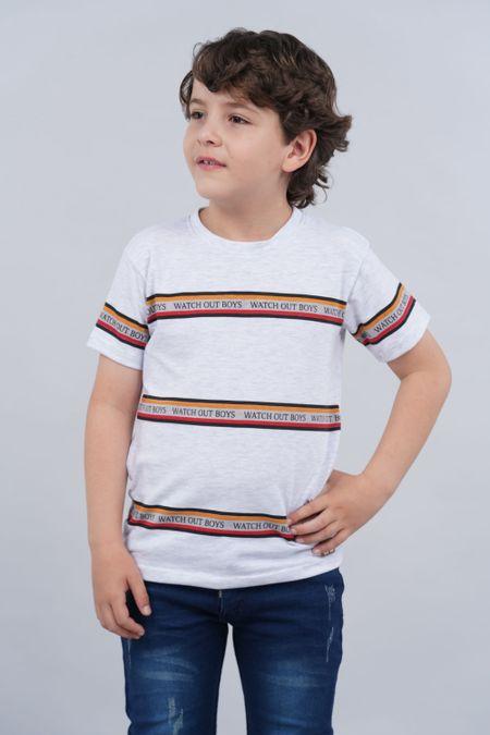 Camiseta para Niño Color Marfil Ref: 018220 - Parceritos - Talla: 8