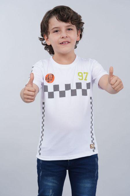 Camiseta para Niño Color Blanco Ref: 018221 - Parceritos - Talla: 2