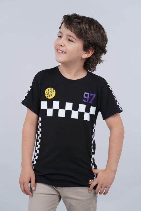 Camiseta para Niño Color Negro Ref: 018221 - Parceritos - Talla: 2