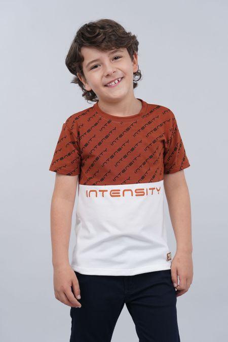 Camiseta para Niño Color Terracota Ref: 018228 - Parceritos - Talla: 2