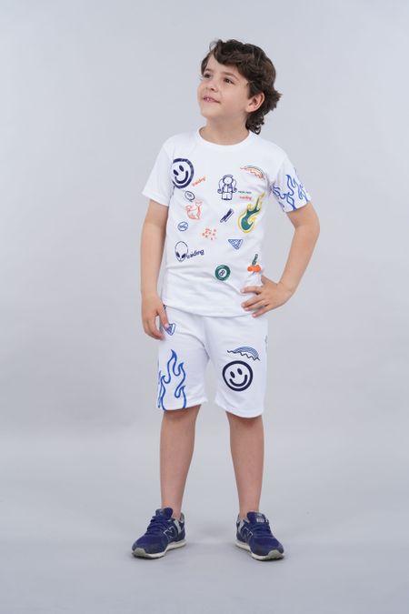Conjunto para Niño Color Blanco Ref: 068218 - Parceritos - Talla: 2