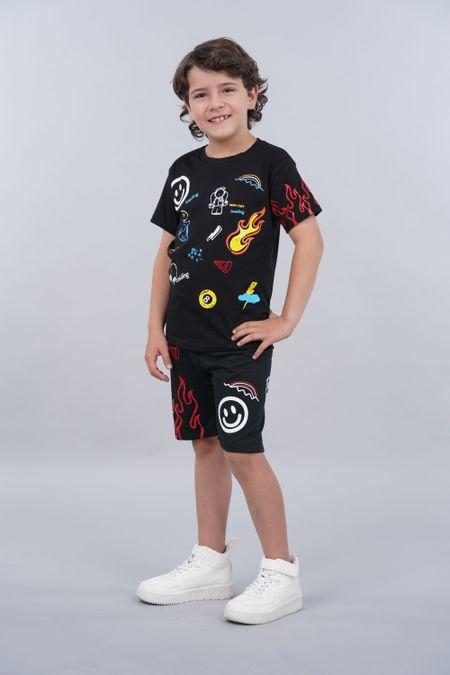 Conjunto para Niño Color Negro Ref: 068218 - Parceritos - Talla: 2