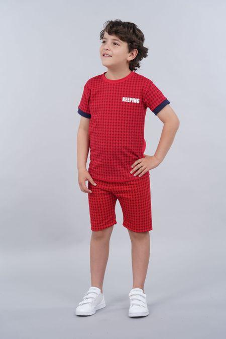Conjunto para Niño Color Rojo Ref: 068222 - Parceritos - Talla: 2