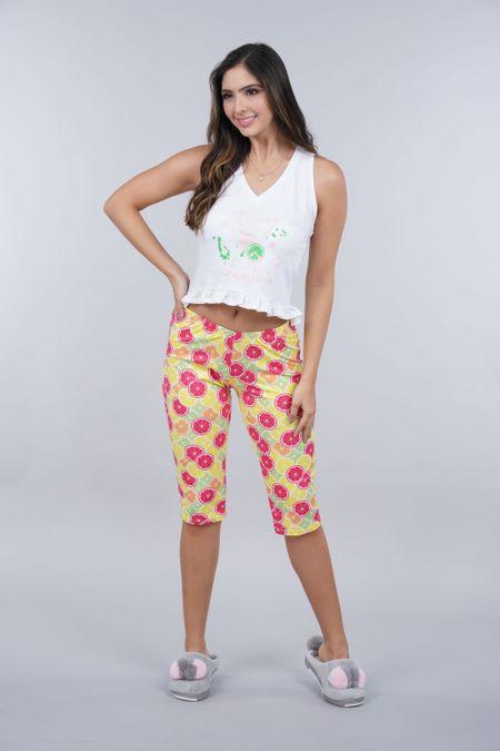Pijama para Mujer Color Blanco Ref: 011306 - CCU - Talla: S