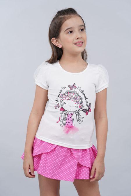 Blusa para Niña Color Marfil Ref: 27825 - Fantasy - Talla: 4