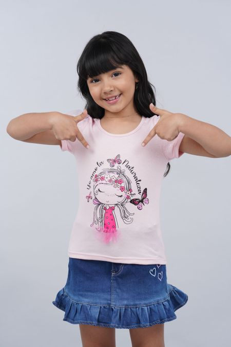 Blusa para Niña Color Rosado Ref: 27825 - Fantasy - Talla: 4
