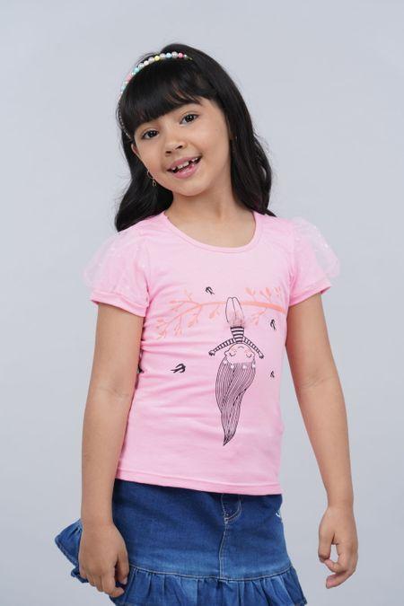 Blusa para Niña Color Rosado Ref: 26899 - Fantasy - Talla: 4