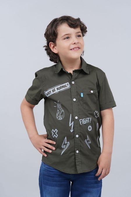 Camisa para Niño Color Verde Ref: 201257 - Tex Sion - Talla: 6