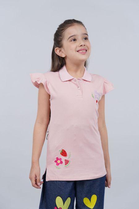 Polo para Niña Color Rosado Ref: 201339 - Tex Sion - Talla: 6