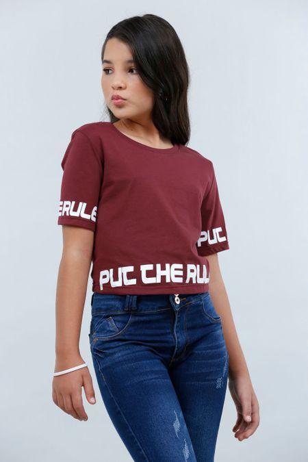 Blusa para Teen Color Vinotinto Ref: 211420 - CCU - Talla: 10