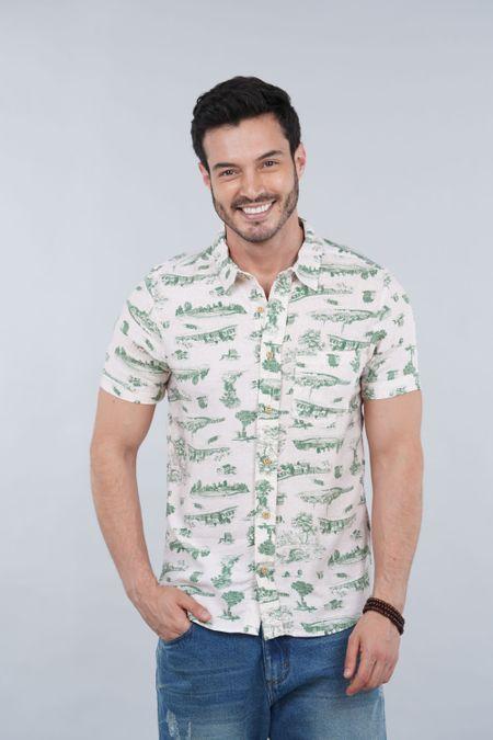 Camisa para Hombre Color Verde Ref: 003293 - CCU - Talla: S
