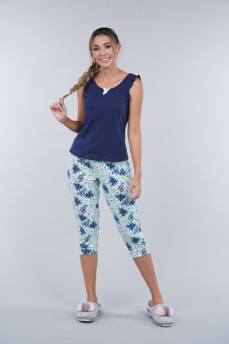 Pijama para Mujer Color Azul Ref: 000014 - Myaw - Talla: S