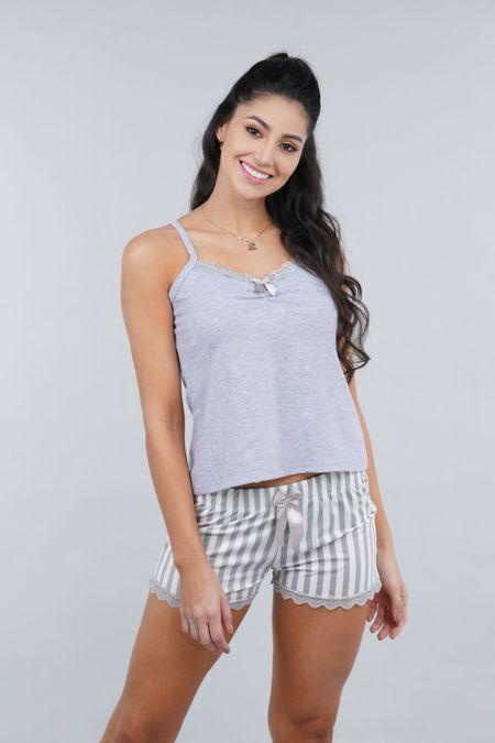 Pijama para Mujer Color Gris Ref: 000131 - Myaw - Talla: S