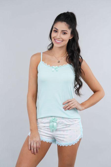Pijama para Mujer Color Verde Ref: 000133 - Myaw - Talla: L