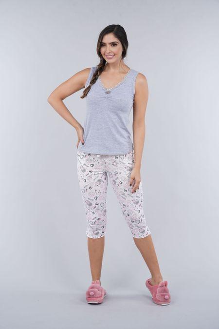 Pijama para Mujer Color Gris Ref: 000214 - Myaw - Talla: S