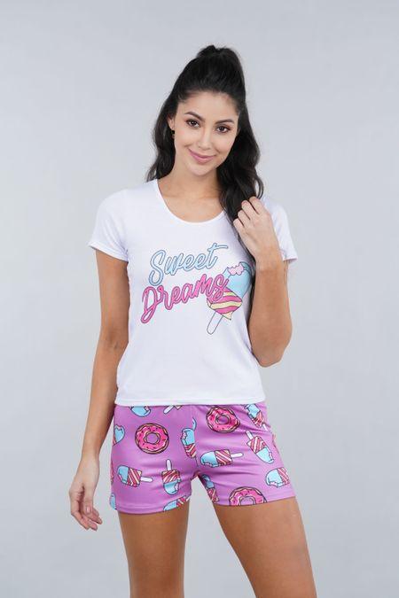 Pijama para Mujer Color Morado Ref: 002386 - Ambil - Talla: S