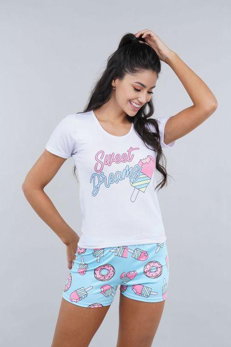 Pijama para Mujer Color Azul Ref: 002386 - Ambil - Talla: S