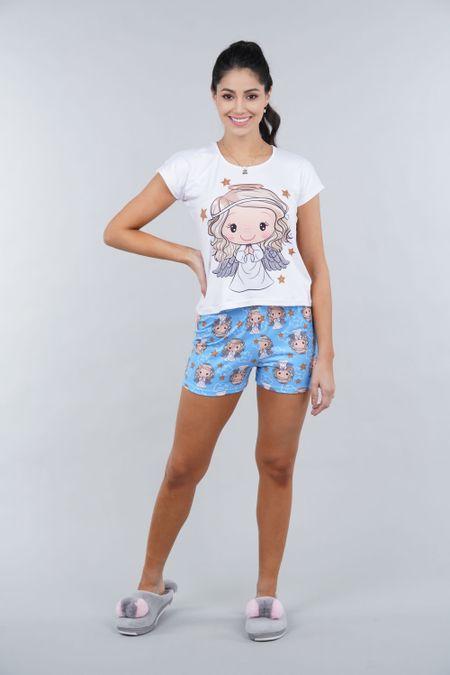 Pijama para Mujer Color Azul Ref: 002328 - Ambil - Talla: S
